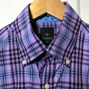 TailorByrd Lavender Plaid Men Small Size Small